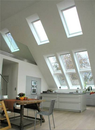 Dachfenster galerie for Badideen unterm dach