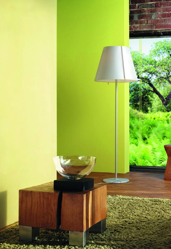 farbgestaltung grün galerie, Innedesign