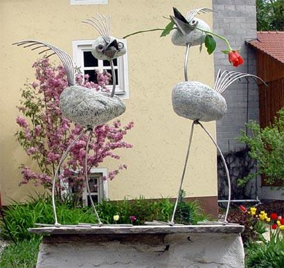 Garten balkon hausideen pool gartenzaun for Gartendeko aus stein und metall