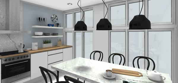 Gerade In Der Küche Kommt Es Darauf An, Den Vorhandenen Platz Gut  Auszunutzen. Neben Arbeitsfläche Braucht Es Hier Viel Stauraum Für  Küchengeräte, ...