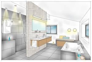 Unterschiedliche Funktionsbereiche Rund Um Waschtisch, Wellness Dusche Oder  Badewanne Erfordern Eine Gesonderte Betrachtung Bei Der Auswahl Der  Beleuchtung.
