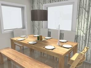 Küche und Esszimmer - Planung mit dem 3D Raumplaner