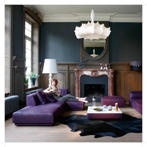 Wohnräume Einrichten Mit Lila Und Beerentönen Pictures to pin on