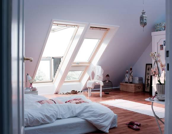 Einer Der Klassiker Unterm Dach Ist Der Dachausbau Zur Nutzung Als  Schlafzimmer. Viel Platz Und