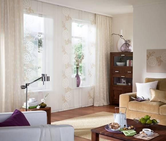 fensterdekoration gardinen beispiele unland elena fensterideen vorhang gardinen und. Black Bedroom Furniture Sets. Home Design Ideas