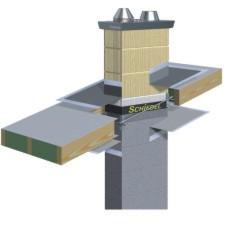 dampfsperre am schornstein mit schornsteinhalterung anschlie en. Black Bedroom Furniture Sets. Home Design Ideas