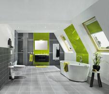 sch n schr g badplanung im dach ii. Black Bedroom Furniture Sets. Home Design Ideas