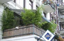 idealer balkon sichtschutz im winter mit bambus und. Black Bedroom Furniture Sets. Home Design Ideas