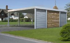 carport bauen carports aus holz stahl oder glas selbst gestalten. Black Bedroom Furniture Sets. Home Design Ideas