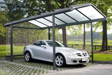 berdachung f rs auto im carport design. Black Bedroom Furniture Sets. Home Design Ideas