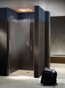 glasduschen mit nur einem beschlag neue duschen von sprinz. Black Bedroom Furniture Sets. Home Design Ideas