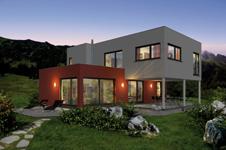 Neue hausserie kubus bei haas fertigbau for Modernes fertighaus im bauhausstil