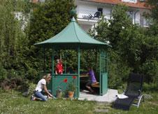 sauna pavillon pagode ger teschuppen alles rund ums gartenhaus. Black Bedroom Furniture Sets. Home Design Ideas