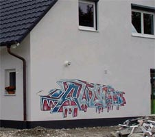 Graffiti Hauswand