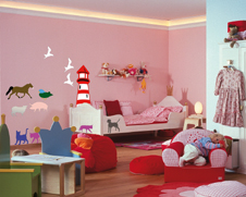 kinderzimmer wanddeko zum ausmalen. Black Bedroom Furniture Sets. Home Design Ideas