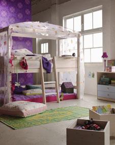 fantasievolle kinder und jugendbetten. Black Bedroom Furniture Sets. Home Design Ideas