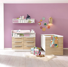 kinderzimmer f r die kleinsten. Black Bedroom Furniture Sets. Home Design Ideas