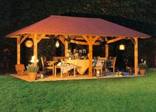 zeit pavillons und pavillons aus holz robinie fichte oder kiefer. Black Bedroom Furniture Sets. Home Design Ideas