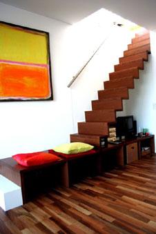 treppe mit stauraum. Black Bedroom Furniture Sets. Home Design Ideas