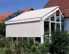 markise jalousie und au enmarkise f r den schattigen wintergarten. Black Bedroom Furniture Sets. Home Design Ideas