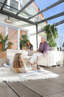 l ftungssysteme beschattung und verglasung im wintergarten. Black Bedroom Furniture Sets. Home Design Ideas