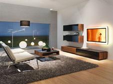 puristische wohnwand. Black Bedroom Furniture Sets. Home Design Ideas